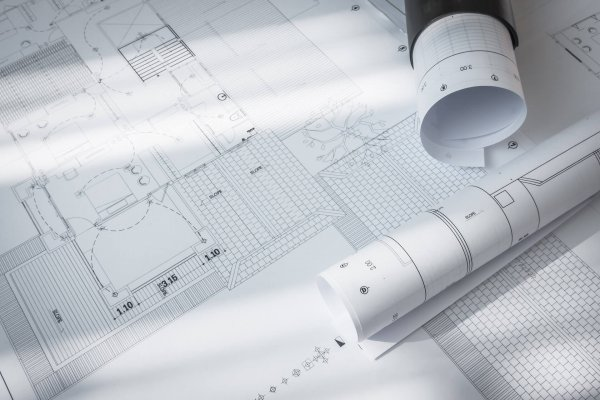 Construction plans of architectural project